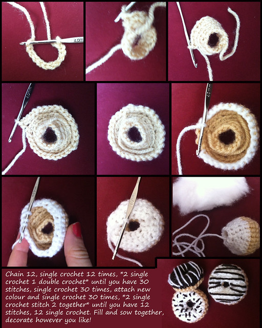 Amigurumi Donut : Crochet donut tutorial Flickr - Photo Sharing!