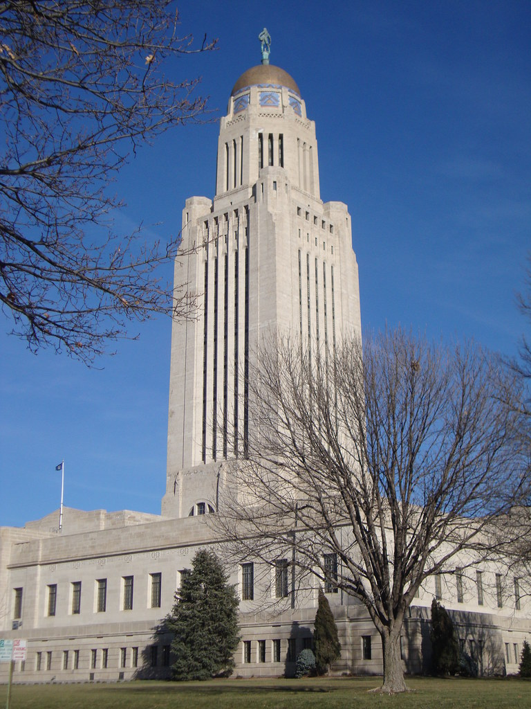 Nebraska State Capitol Tower Lincoln Nebraska  This Is