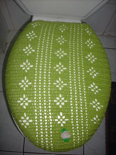 Juegos De Baño Crochet:Tapa tejida a crochet