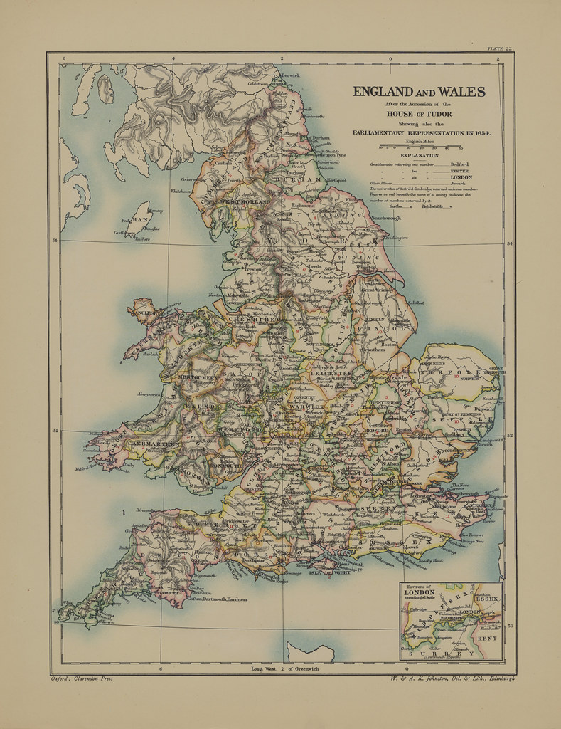 map page of section xxii england and wales after the acces