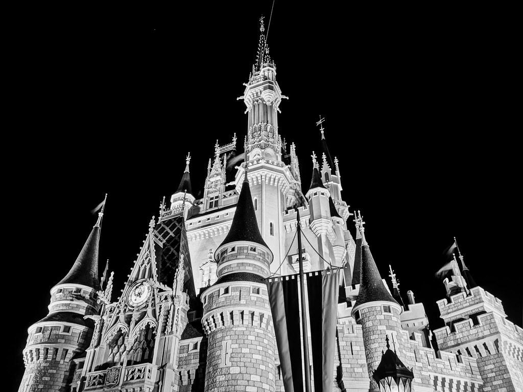 Black Magic Camera >> Magic Kingdom - Castle Black | The colors on the castle were… | Flickr