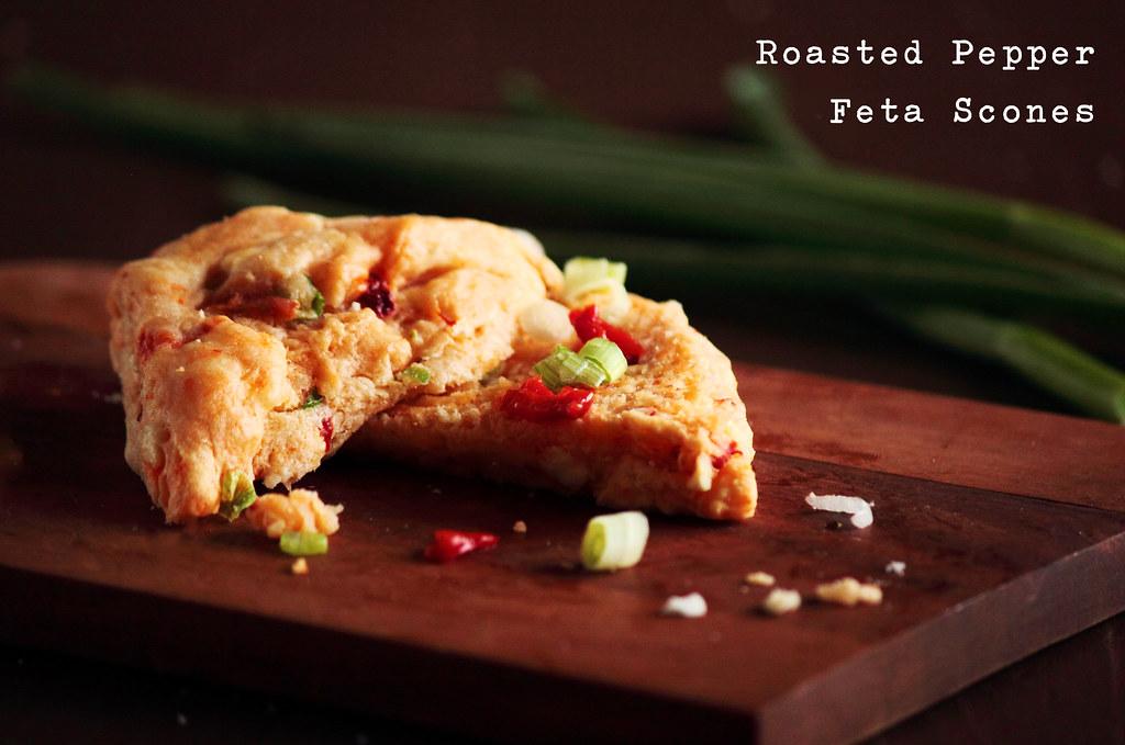 Roasted Pepper Feta Scones | Recipe Blog Facebook ...