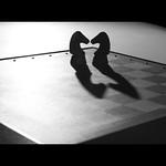 two shadows, one kiss