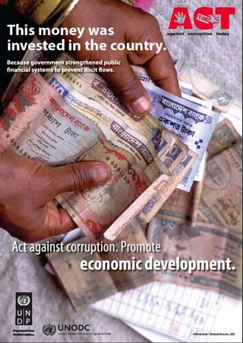 Act againts corruption. Promote economic development. | by United Nations Development Programme