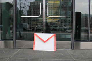 Gmail envelope with 200,000 petition signatures left at Google's DC office | by SumOfUs