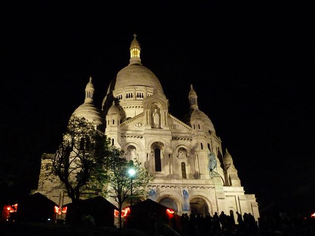 Sacre Coeur iluminado (París)