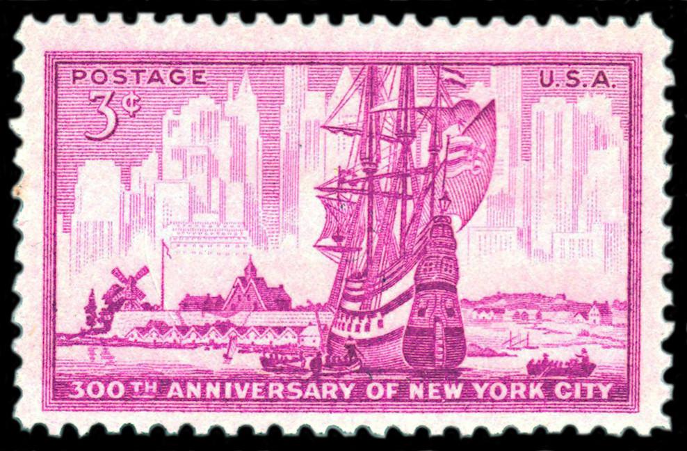 1953-11-20 300th anniversary of New York city | A 3-cent U ...