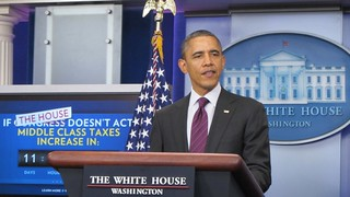 Obama visits the White House Press Briefing Room | by WilliamKoenig