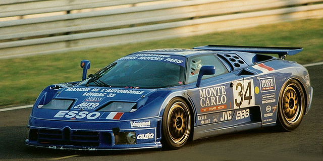 1994 le mans entered by michel hommell f bugatti eb110 ss driven by cudini helary. Black Bedroom Furniture Sets. Home Design Ideas