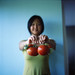 Pei and her garden tomatoes