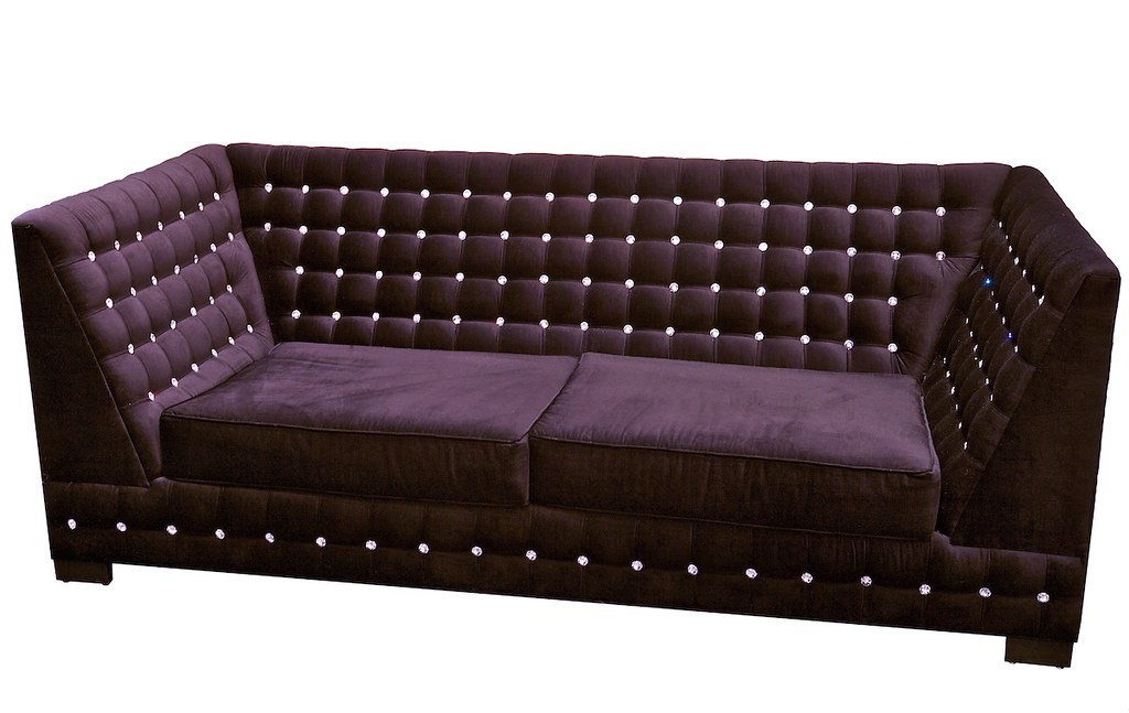 4197 purple velvet swarovski crystal sofa custom made. Black Bedroom Furniture Sets. Home Design Ideas