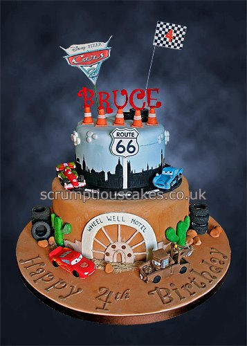 Birthday Cake 809 Disney Pixar Cars 2 Paula Jane