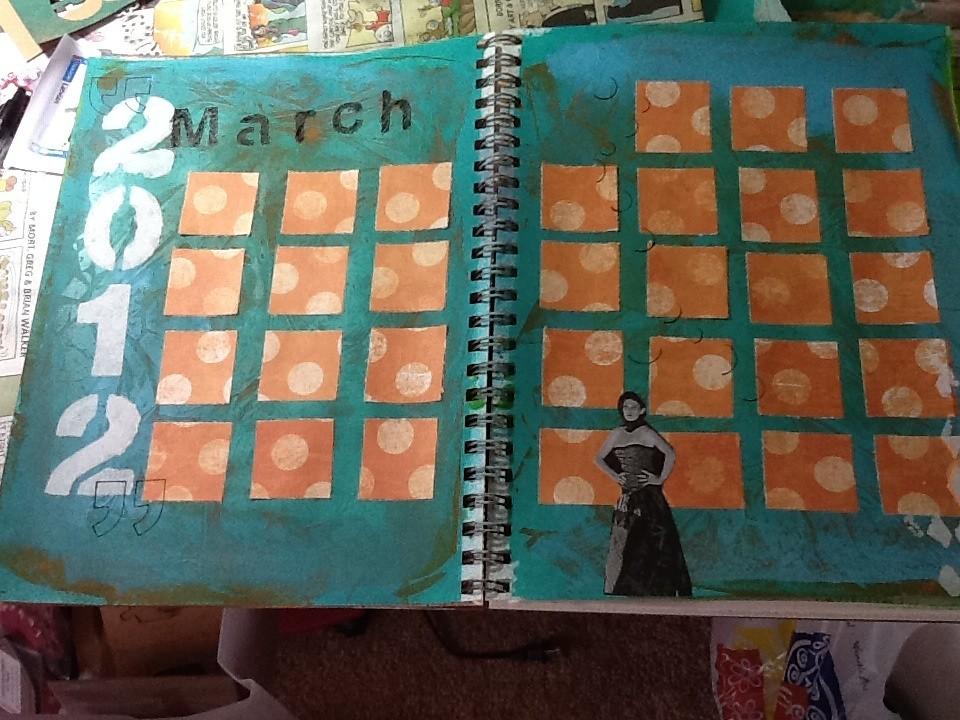 Art Journal Calendar Pages : March journal page art calendar aija flickr