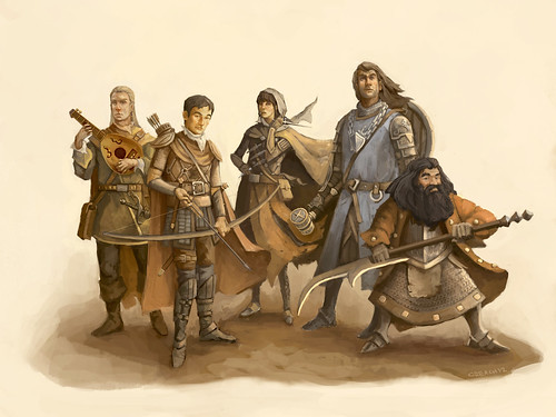Our Adventuring Party Commissioned Art By Christopher