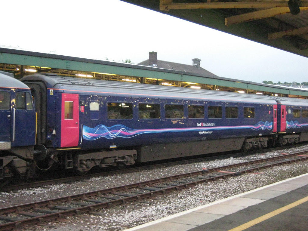 17173 Mk3 Seated Sleeper Coach First Great Western At Plym
