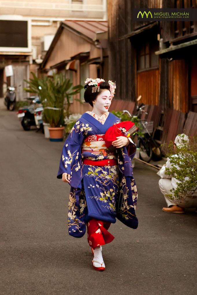 Maiko Apprentice Geisha Manaha Kyoto Japan Jap 243 N