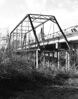 Abandoned Through Truss  FM 2854 Bridge over San Jacinto River 0128121517BW | by Patrick Feller