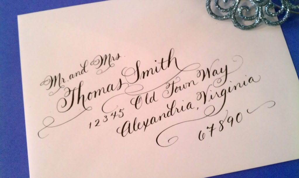 Wedding Calligraphy Envelope Addressing Our Caitie Lite