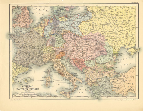 Map page 1 of Section XIV Europe, 1863-1897 from Part XXIV of Historical atlas of modern Europe from the decline of the Roman empire : comprising also maps of parts of Asia and of the New world connected with European history | by uconnlibrariesmagic