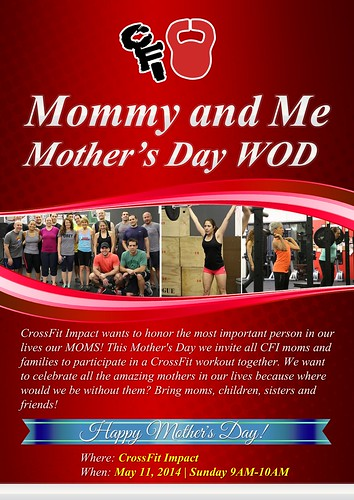 [Event Flyer] Mommy and Me | Mothers day WOD
