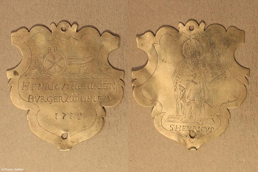 Koenigsschild Flittard von tiehllen henricus aus dem Jahr 1718