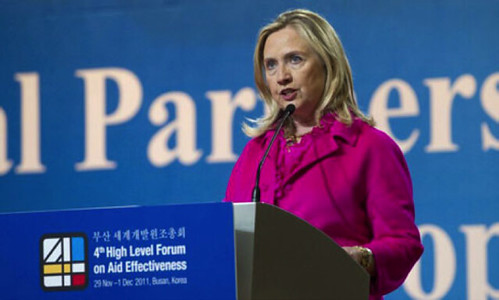 Hillary Clinton at the Forum on Aid Effectiveness | by ONE.org