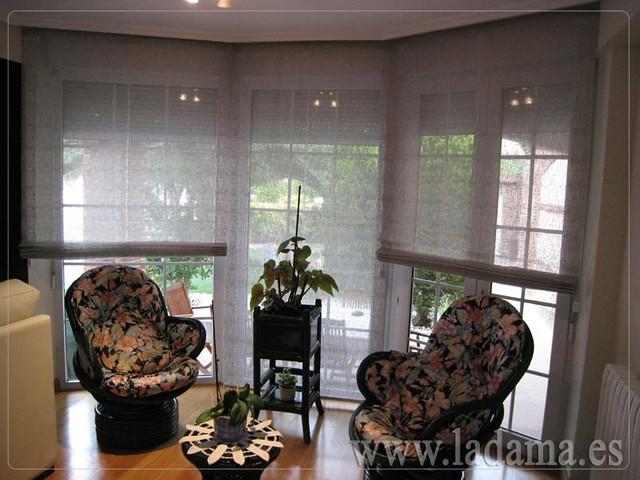 Decoraci n para salones cl sicos cortinas con dobles cort - Estores para salones ...