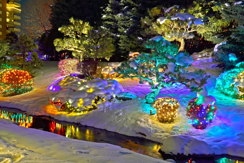 Denver Botanic Garden Holiday Lights Last Night We Took A Flickr