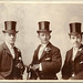 Unknown men in top hats (groom and ushers?) by Wakefield, 1 High Street, Ealing