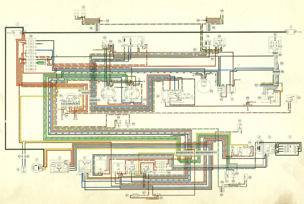 porsche 911 wiring diagram download porsche 911 wiring diagram 912 factory color 1971 porsche 911 wiring diagram #2 | 1971 porsche 911 wiring… | flickr