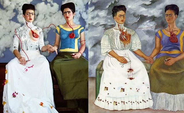 the two fridas remake von claire ball original von frida kahlo flickr photo sharing. Black Bedroom Furniture Sets. Home Design Ideas