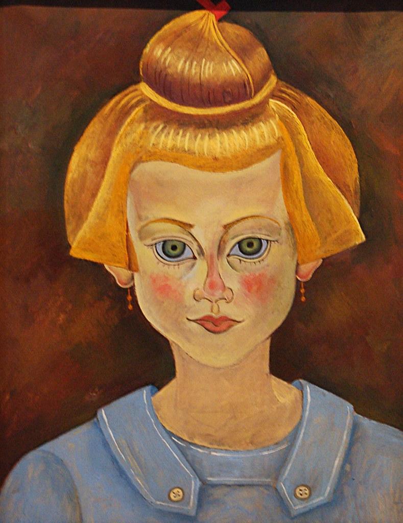 Une Fille French Teenage Fashion For Spring 2016: Portrait D'une Jeune Fille De Joan Miró