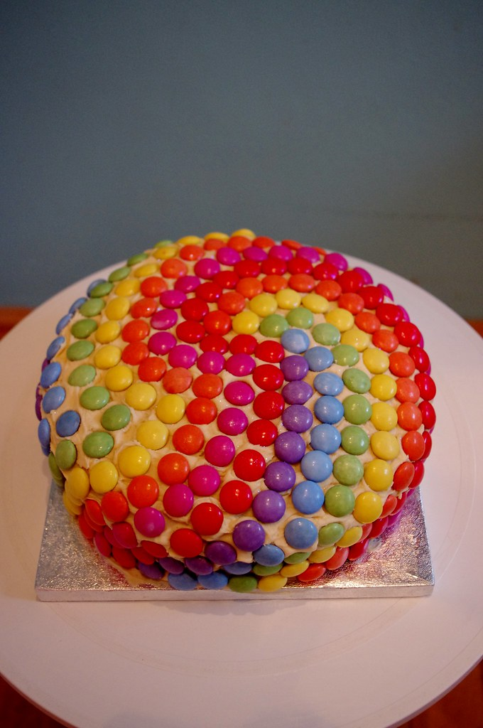 Smarties Cake Images