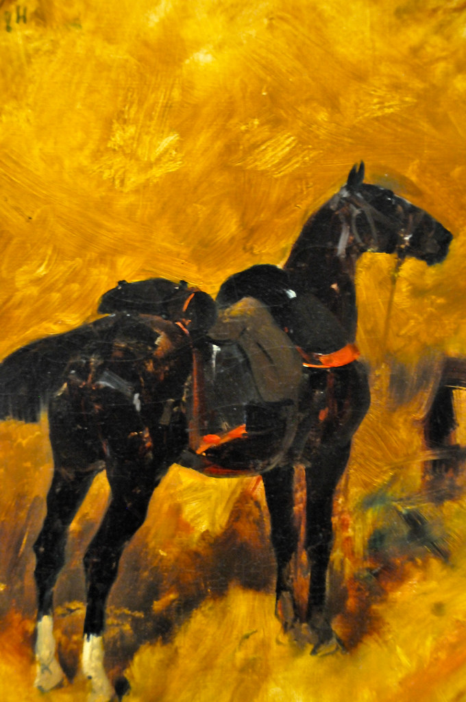 Rene Priceteau A Charger In An Interior With A Saddle An
