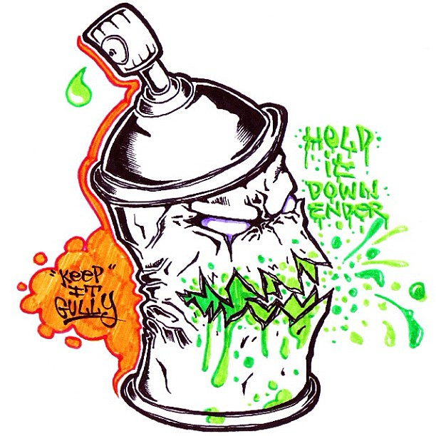 Here's a spray can character I did for @ender_one's blog ...