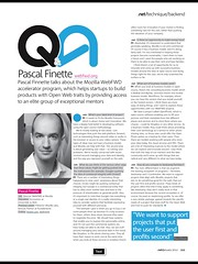 .net Magazine: Q&A with Pascal Finette (01/2012)