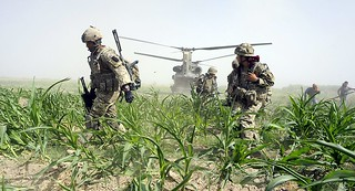 Soldiers from 1 Rifles Take Part in Helicopter Assault in Afghanistan | by Defence Images