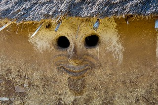 Detail.Traditional house with lion face on the walls. Awash. Ethiopia. | by courregesg