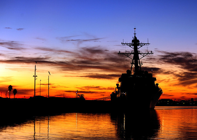 USS Spruance pierside at Naval Weapons Station Seal Beach [Image 1 of 9]