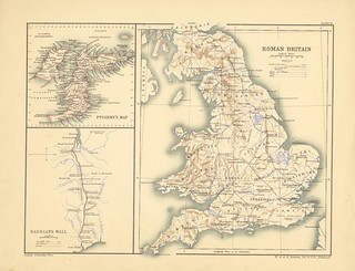 Section XV Map page of Roman Britain from Historical atlas of modern Europe from the decline of the Roman empire : comprising also maps of parts of Asia and of the New world connected with European history | by uconnlibrariesmagic