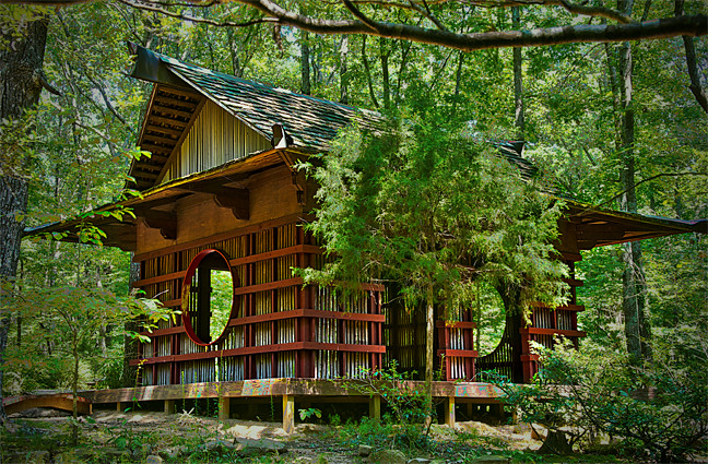 Japanese tea house monte sano state park huntsville for Japanese style garden buildings