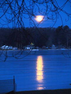 Snow Moon set . . . 7 AM | by Dr. Farnsworth