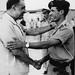 Former Egyptian President Gamel Abdel Nassar greets Col. Muammar Gaddafi of Libya after the Al-Fateh Revolution of September 1, 1969. Nasser would pass the following year.