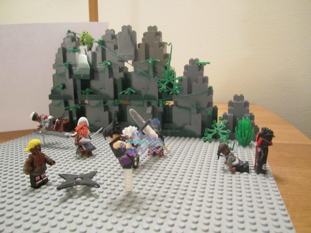 Lego Custom Minifigure Naruto   Sasuke vs. Raikage ...