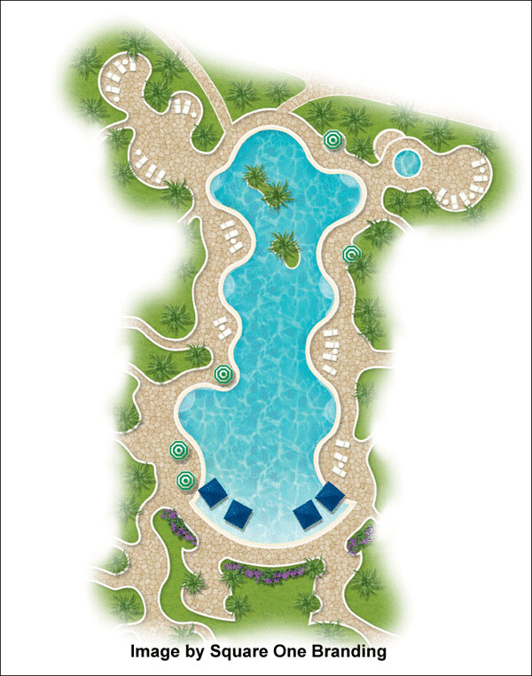 2d Landscape Plan Using Landscape Architecture Symbols