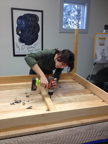 table assembly | by Vermont Public Radio