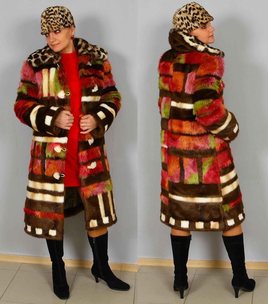 Fur Coat Crazy Winter Boho Bohemian Hippie Gypsy Patchwork