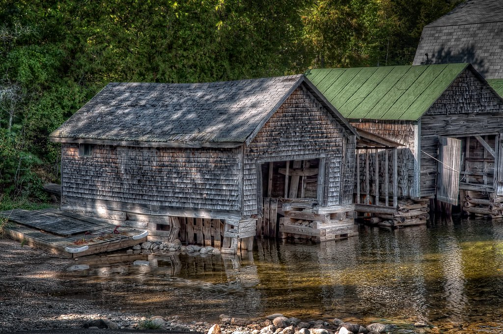 A house underwater in northern maine far beyond the for Fishing in flagstaff