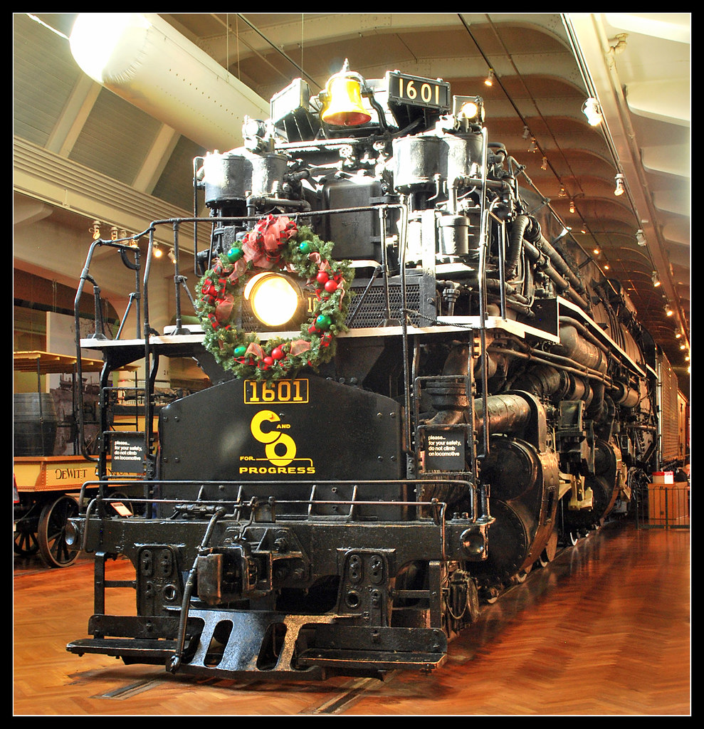 C Amp O 1601 Allegheny Locomotive Visit To The Renowned