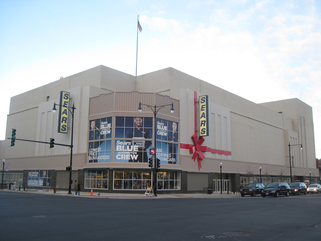 Six Corners Sears At Christmas Then Chicagonwside